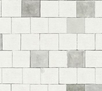 Grafik Tapete Profhome 368551-GU Vliestapete leicht strukturiert mit grafischem Muster matt grau weiß 5, 33 m2