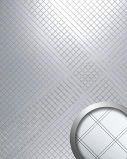 Wandpaneel Spiegel Mosaik Classic selbstklebend WallFace 14281 M-Style RHOMBUS Wandverkleidung Design silber   2, 60 qm