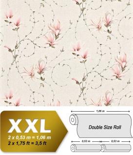 Landhaus Tapete Blumen XXL Vliestapete EDEM 902-16 Florales Design hochwertige Textiloptik rosa creme beige weiß 10, 65 m2