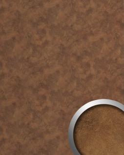 Wandpaneel Metalloptik WallFace 20186 OXIDIZED Wandverkleidung glatt im Vintage Look Rost-Optik selbstklebend abriebfest kupfer-braun | 2, 6 m2