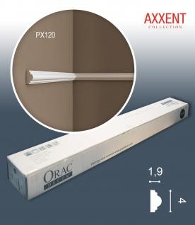 Orac Decor PX120 AXXENT 1 Karton SET mit 10 Stuckleisten Wandleisten | 20 m