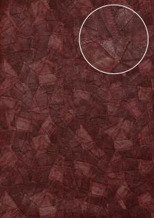 Präge Tapete Atlas STI-5102-5 Vliestapete geprägt in Lederoptik schimmernd rot wein-rot schwarz-rot 7, 035 m2