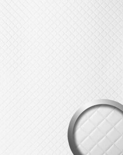 Wandpaneel Leder Design Karo Muster WallFace 15041 ROMBO Wandplatte Wandverkleidung selbstklebend weiß matt 2, 60 qm