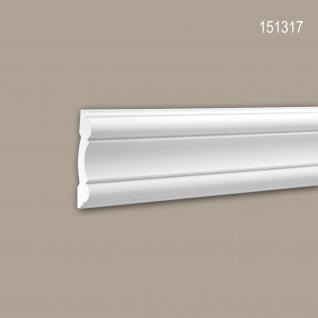 Wand- und Friesleiste PROFHOME 151317 Stuckleiste Zierleiste Wandleiste Neo-Klassizismus-Stil weiß 2 m