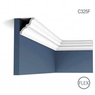 Eckleiste Orac Decor C325F LUXXUS MANOIR flexible Zierleiste Stuckleiste Zeitloses Klassisches Design weiß 2 m
