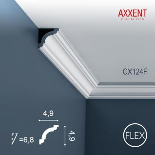 Zierleiste Profilleiste Orac Decor CX124F AXXENT flexible Stuckleiste Stuck Profil Eckleiste Wandleiste | 2 Meter