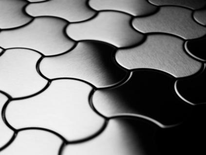 Mosaik Fliese massiv Metall Edelstahl gebürstet in grau 1, 6mm stark ALLOY Ubiquity-S-S-B Designed by Karim Rashid 0, 75 m2 - Vorschau 4