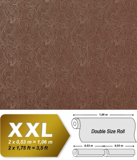 Barock Vliestapete EDEM 698-95 Designer Imperial Versailles Paisley Metallic-Muster reh-braun beige   10, 65 qm