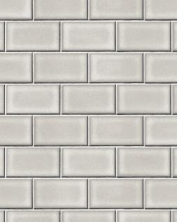 Grafik Tapete Profhome BA220102-DI heißgeprägte Vliestapete geprägt mit geometrischen Formen glänzend grau weiß 5, 33 m2