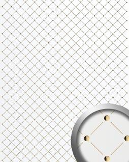 3D Wandpaneel Design Wandverkleidung Mosaik Dekor WallFace 17856 Luxus Paneel selbstklebend perlweiß gold | 2, 60 qm