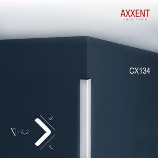 Stuckleiste Zierleiste Profilleiste Orac Decor CX134 AXXENT Kantenleiste Stuck Eckleiste Wand Decken Leiste 2 Meter
