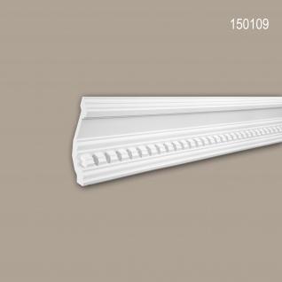 Eckleiste PROFHOME 150109 Zierleiste Stuckleiste Neo-Klassizismus-Stil weiß 2 m