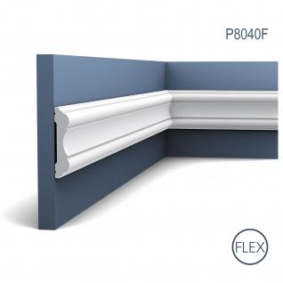 Stuckprofil Friesleiste Orac Decor P8040F LUXXUS flexible Wand Leiste Rahmen Dekor Profil FLEX Leiste stoßfest | 2 Meter