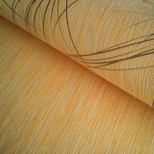 Grafik Tapete EDEM 1021-11 Designer Vinyl Tapete grafisches Linien-Muster Struktur metallic look gelb gold - Vorschau 2