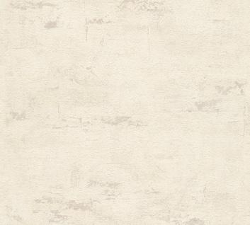 Stein Kacheln Tapete Profhome 306682-GU Vliestapete strukturiert in Steinoptik matt creme grau 5, 33 m2