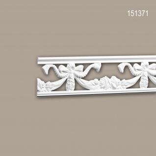 Wand- und Friesleiste PROFHOME 151371 Stuckleiste Zierleiste Friesleiste Neo-Empire-Stil weiß 2 m
