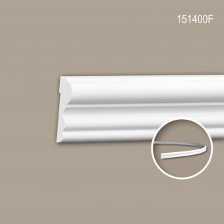 Wand- und Friesleiste PROFHOME 151400F Stuckleiste Flexible Leiste Zierleiste Zeitloses Klassisches Design weiß 2 m