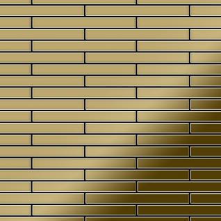 Mosaik Fliese massiv Metall Titan hochglänzend in gold 1, 6mm stark ALLOY Deedee-Ti-GM 0, 78 m2
