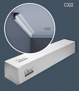 Orac Decor C322 LUXXUS 1 Karton SET mit 16 Stuckleisten 32 m