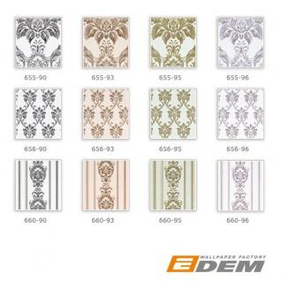 Barock Tapete XXL Vliestapete 3D EDEM 655-95 Damast Muster Textil-Optik Barocktapete grün gold creme hellbraun 10, 65 m2 - Vorschau 4