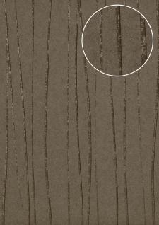 Streifen Tapete Atlas COL-566-5 Vliestapete glatt Design schimmernd braun beige-grau bronze 5, 33 m2