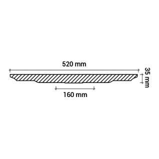 Rosette PROFHOME 156002 Deckenelement Zierelement Jugendstil weiß Ø 52 cm - Vorschau 3