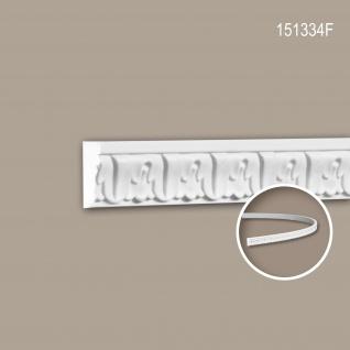 Wand- und Friesleiste PROFHOME 151334F Stuckleiste Flexible Leiste Zierleiste Neo-Klassizismus-Stil weiß 2 m