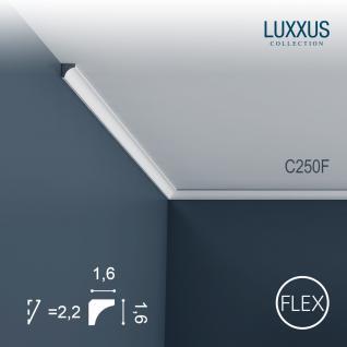 Eckleiste Orac Decor C250F LUXXUS flexible Leiste Zierleiste Decken Stuck Dekor Profil Gesims Dekorleiste | 2 Meter