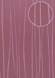 Edle Streifen Tapete Atlas COL-568-8 Vliestapete glatt Design schimmernd violett rot-lila pastell-violett 5, 33 m2
