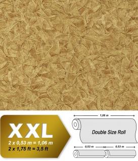 Struktur Tapete EDEM 9086-25 heißgeprägte Vliestapete geprägt unifarben schimmernd gold 10, 65 m2