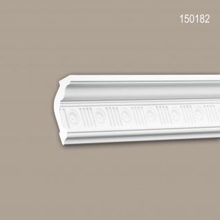 Eckleiste PROFHOME 150182 Zierleiste Stuckleiste Zeitloses Klassisches Design weiß 2 m