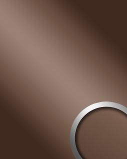 Wandpaneel Spiegel Dekor Glanz-Optik WallFace 10150 DECO BROWN Paneel Wandverkleidung selbstklebend braun | 2, 60 qm