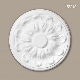 Rosette PROFHOME 156010 Deckenelement Zierelement Neo-Klassizismus-Stil weiß Ø 19, 3 cm