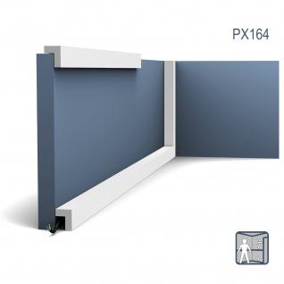 Wandleiste Zierleiste von Orac Decor PX164 AXXENT Türumrandung Stuck Wand Sockel Leiste Kabelkanal Decken Leiste 2 Meter