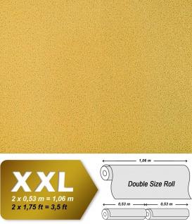 Uni Tapete Vliestapete EDEM 917-22 Tapete in XXL Hochwertige Luxus geprägte Struktur Tapete gelb-gold | 10, 65 qm