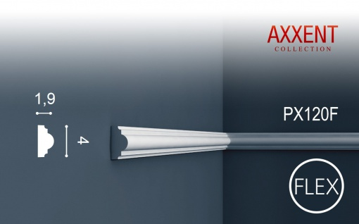 Wandleiste Zierleiste von Orac Decor PX120F AXXENT flexible Profilleiste Friesleiste Stuckprofil Wand Rahmen   2 Meter
