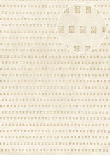 Grafik Tapete Atlas ICO-5071-3 Vliestapete glatt mit abstraktem Muster schimmernd creme grau-beige gold 7, 035 m2