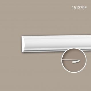 Wand- und Friesleiste PROFHOME 151379F Stuckleiste Flexible Leiste Zierleiste Neo-Klassizismus-Stil weiß 2 m