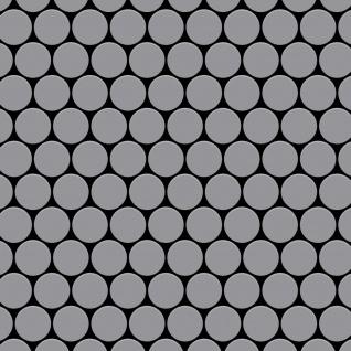 Mosaik Fliese massiv Metall Edelstahl matt in grau 1, 6mm stark ALLOY Dollar-S-S-MA 0, 88 m2