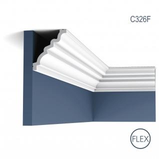 Eckleiste Orac Decor C326F LUXXUS MANOIR flexible Zierleiste Stuckleiste Zeitloses Klassisches Design weiß 2 m