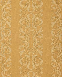 Barock-Tapete EDEM 829-22 exklusive geprägte Tapete dekorative Streifen Damast-Muster gelb gold Perlmutt-Effekt 70 cm
