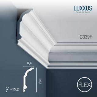 Stuck Zierleiste Orac Decor C339F LUXXUS flexible Eckleiste leiste Deckenprofil Wandleiste klassisch | 2 Meter