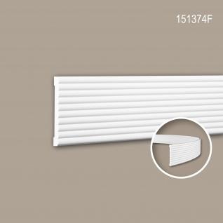 Wand- und Friesleiste PROFHOME 151374F Stuckleiste Flexible Leiste Zierleiste Modernes Design weiß 2 m