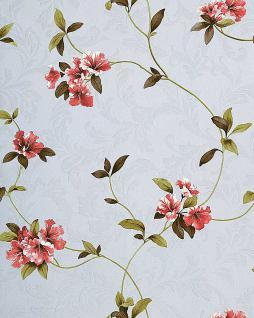 Asia Tapete EDEM 761-25 Orientalische Tapete Floral Designer hochwertiger Prägequalität pastell-lila rot grün braun