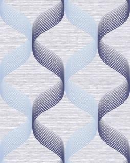 Retro Tapete EDEM 1034-12 Vinyltapete strukturiert mit grafischem Muster glitzernd blau hell-blau violett-blau 5, 33 m2