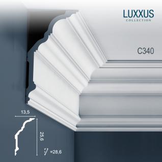 Stuck Wandleiste Orac Decor C340 LUXXUS Eckleiste Zierleiste Profilleiste Stuckleiste Deckenprofil klassisch | 2 Meter