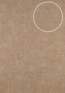 Uni Tapete ATLAS CLA-601-1 Vliestapete glatt im Used Look schimmernd braun perl-gold perl-beige 5, 33 m2