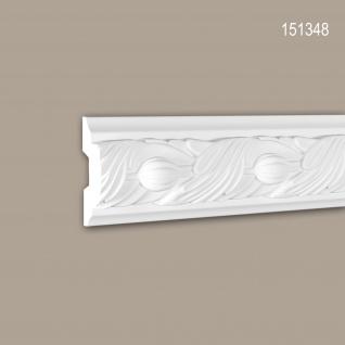 Wand- und Friesleiste PROFHOME 151348 Stuckleiste Zierleiste Wandleiste Rokoko Barock Stil weiß 2 m
