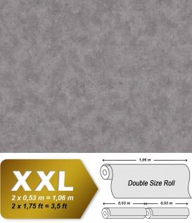 Uni Tapete EDEM 9031-17 Vliestapete geprägt in Spachteloptik schimmernd grau silber 10, 65 m2