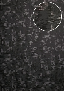 Ton-in-Ton Tapete ATLAS XPL-593-0 Vliestapete strukturiert mit abstraktem Muster schimmernd anthrazit grau schwarz-grau beton-grau 5, 33 m2